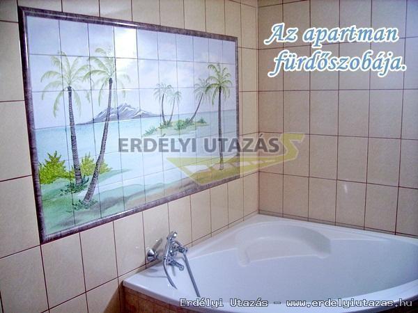 Az apartmanhoz tartozó fürdőszoba.